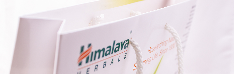 Himalaya Herbals Bag with UV varnish white cords banner copy