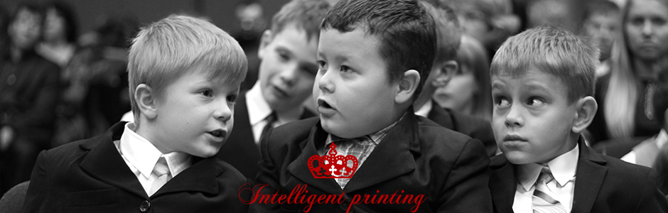 Intelligent Printing Sweden web site concept design logo and programming banner copy
