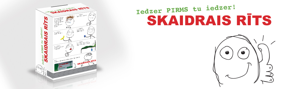 Skaidrais Rits box concept and design banner copy