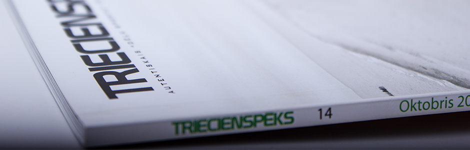 Triecienspeks Magazine offset printing and gluing banner copy