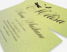 Business cards Melisa, digital printing.