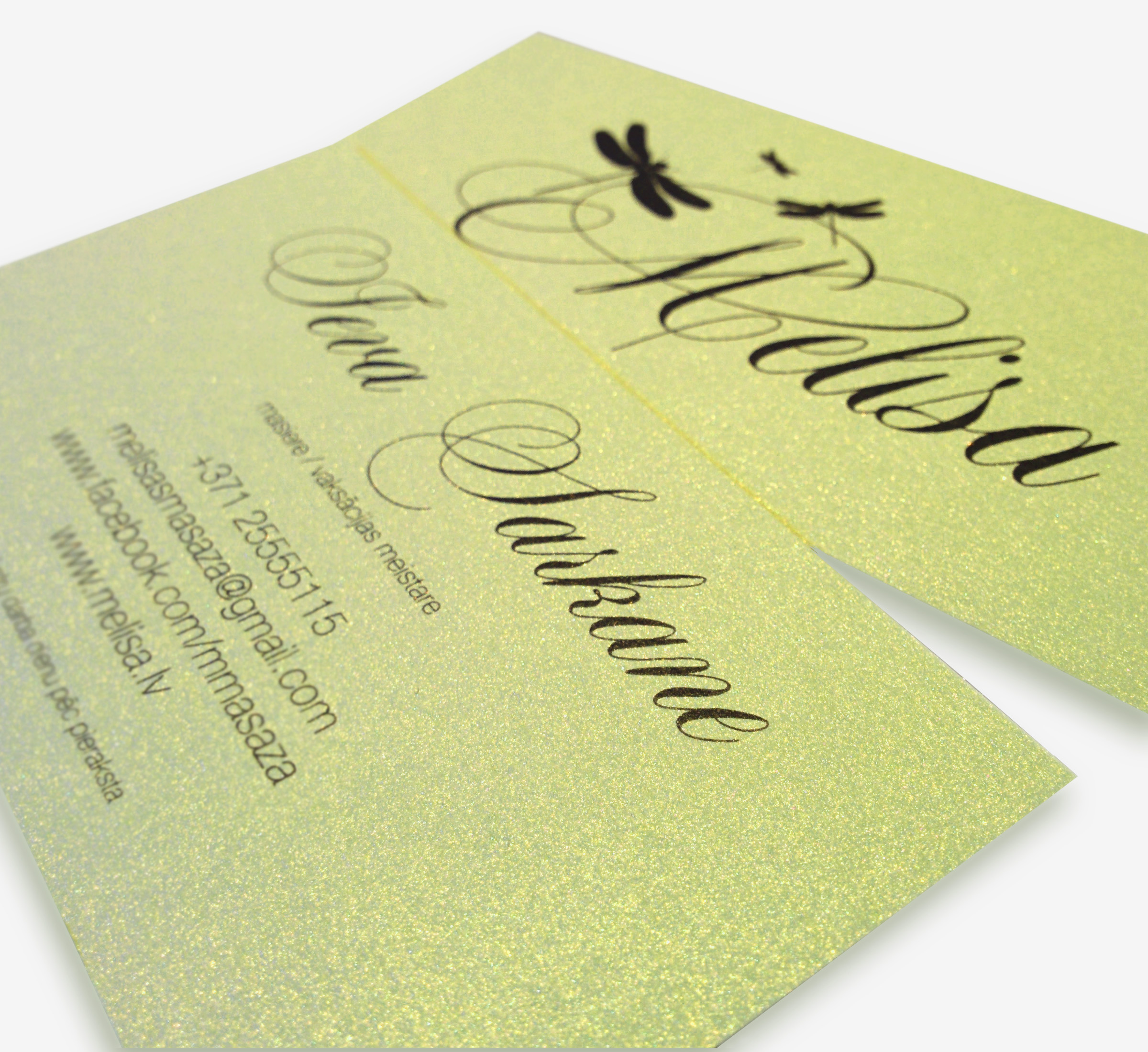 Airginity – air the dream » Business cards Melisa, digital printing.